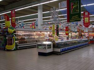 Sidste øjebliks indkøb i supermarkedet